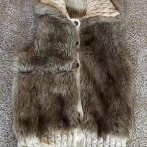 Nine West Faux Fur Vest